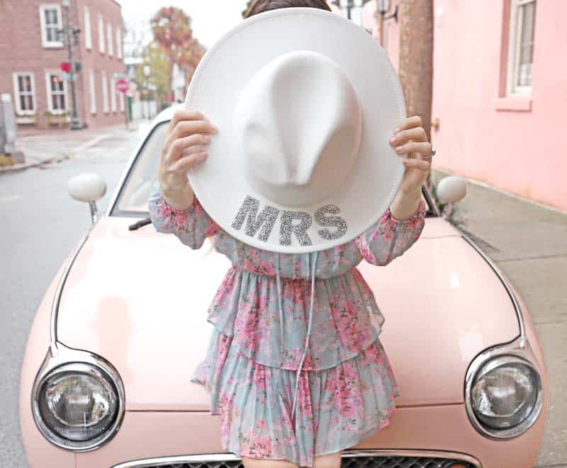 """Be everythine """"MRS"""" cowgirl hat"""