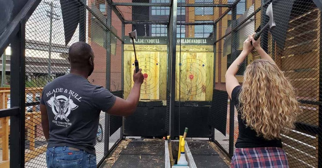 Blade & Bull Axe Throwing, Vendor Spotlight, Charleston SC