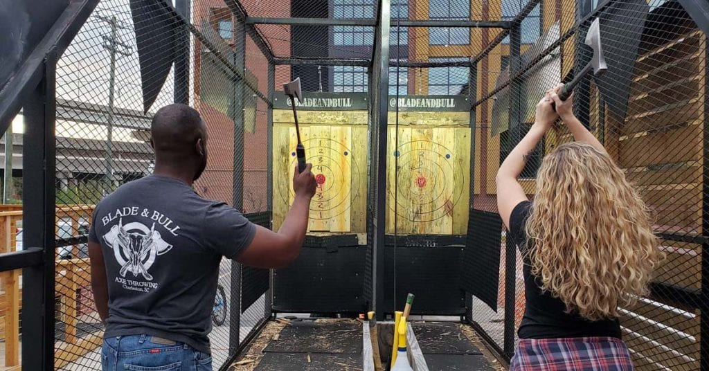 Axe throwing in Charleston