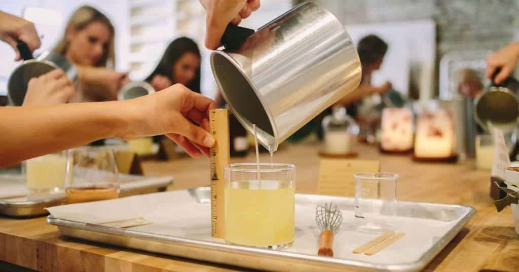 Candle making class in Charleston SC