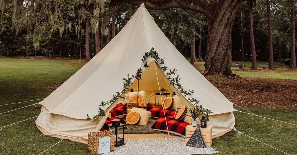 Glamping Experience in Charleston, SC.