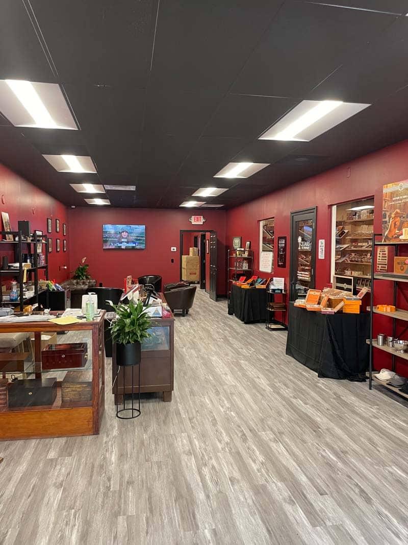 Inside Cigars on Maybank.