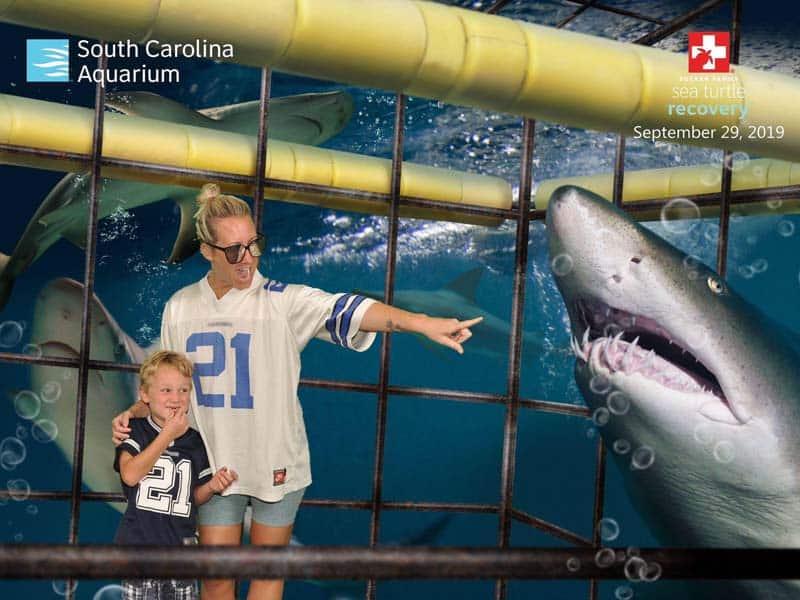 Photo op at the South Carolina Aquarium in Charleston, SC.