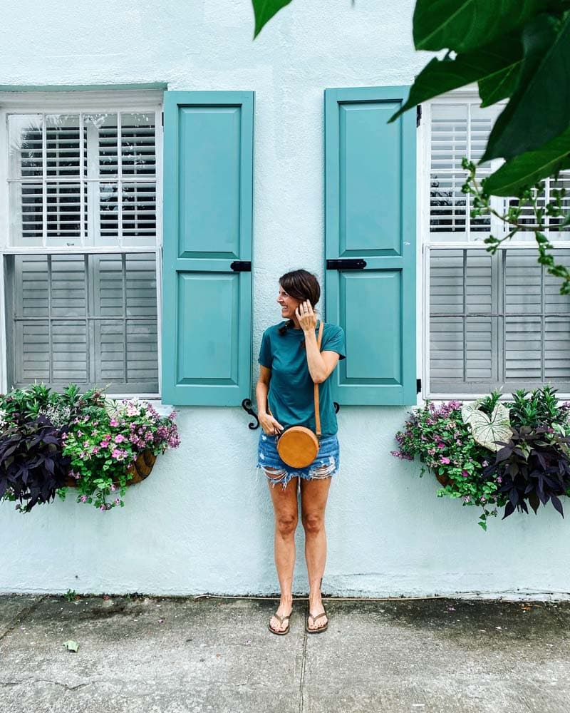 Tracy Anderson's real vacation to Charleston SC.