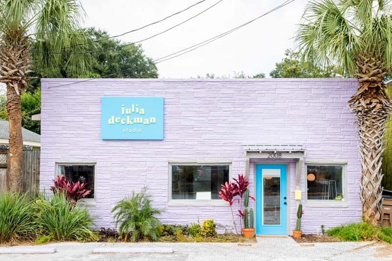 Julia Deckman Studio & Stono Bottle Shop in Charleston, SC.