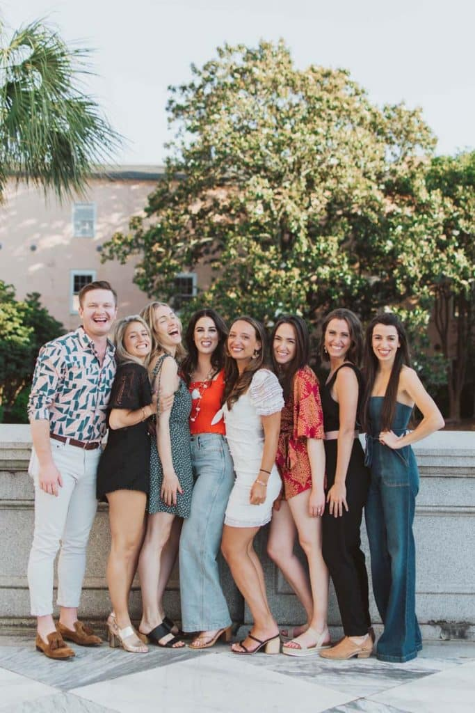Photoshoot for bachelorette parties in Charleston, SC.