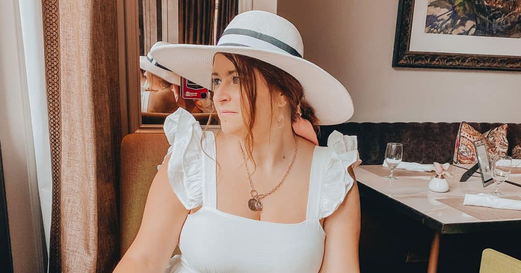 Dasha dining out in Charleston, SC.