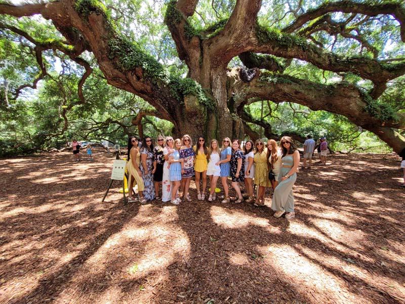 All of us under the Angel Oak on John's Island.