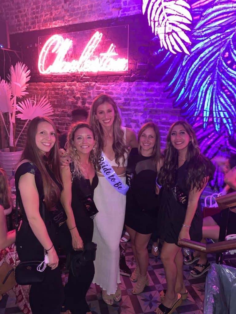 Laura Suchopar and friends at her bachelorette in Charleston, SC.