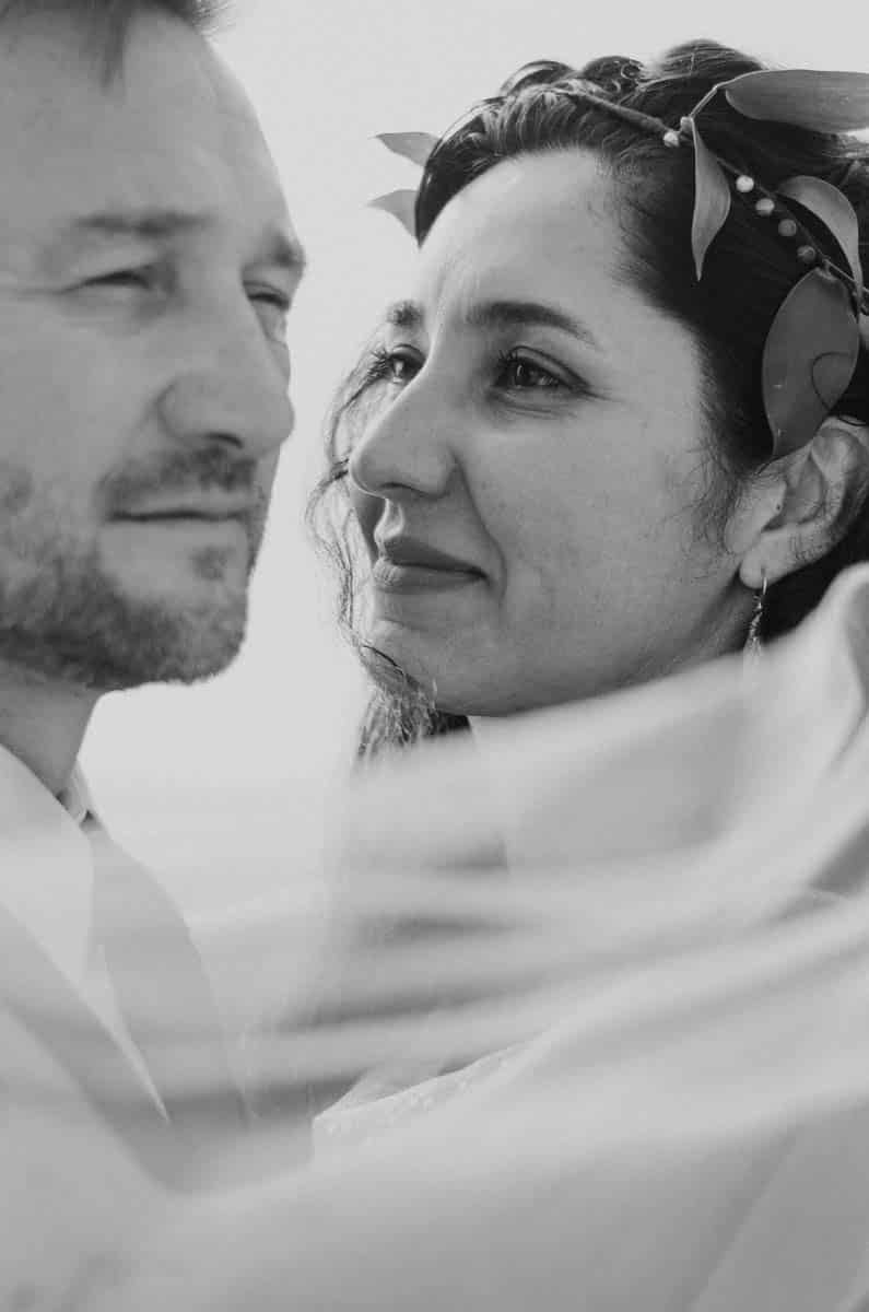 Professional photo of bride and groom at their wedding in Charleston, SC by Brie Sciales Photography.