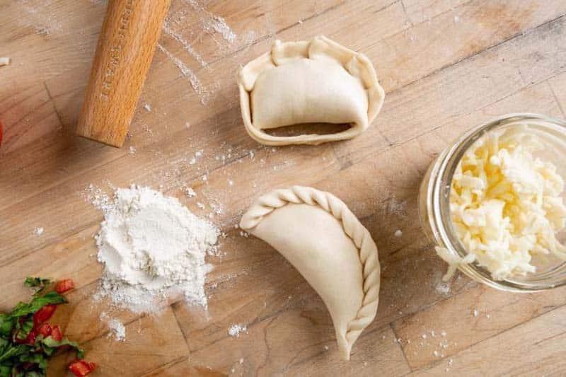 Empanadas prepared fresh by Diego Funes in Charleston, SC.