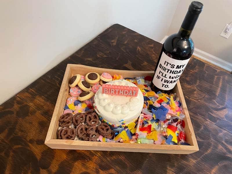 A fun dessert celebration board.