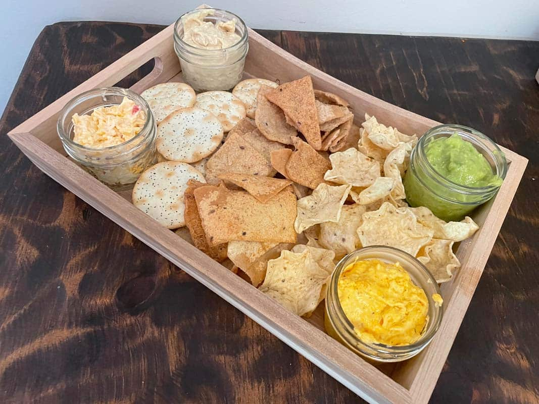 Chips and dips for your party in Charleston, SC.
