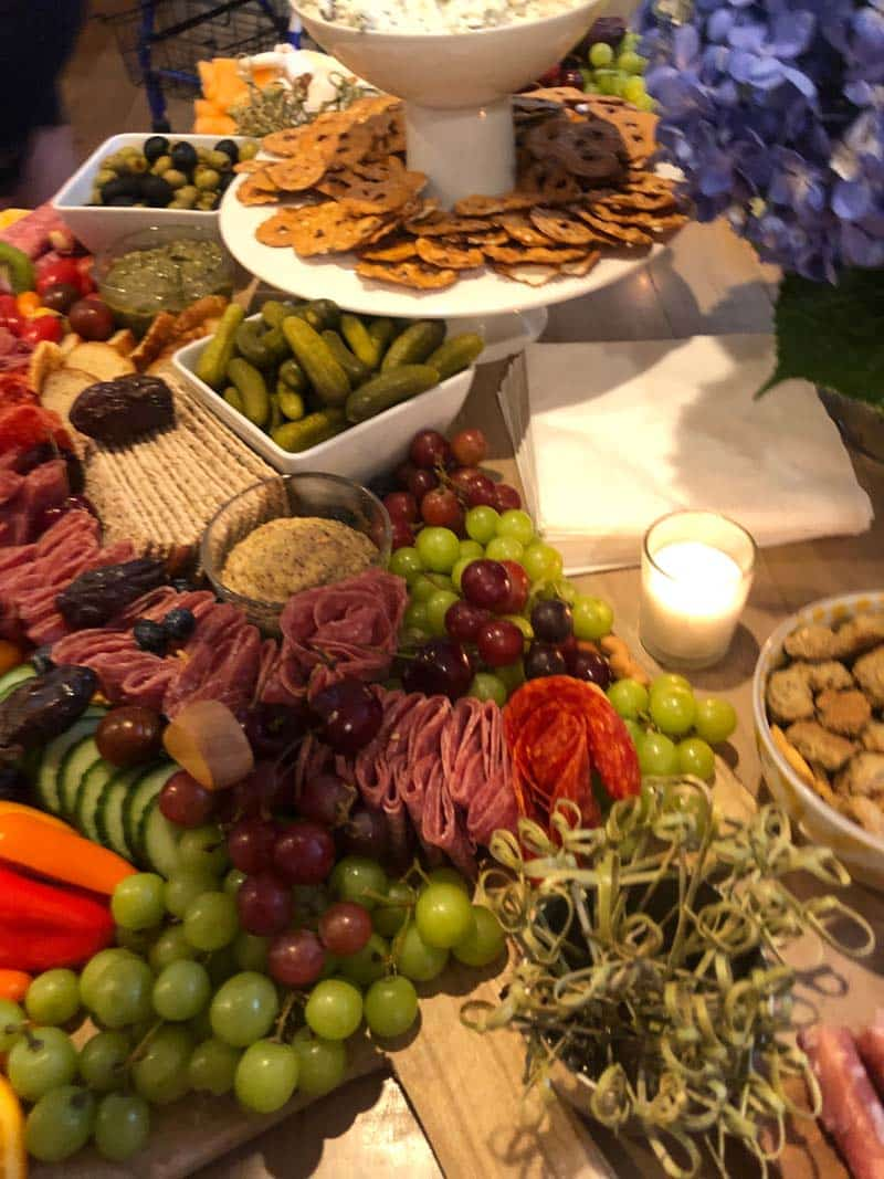 Charcuterie board for a bachelorette party in Charleston, SC.