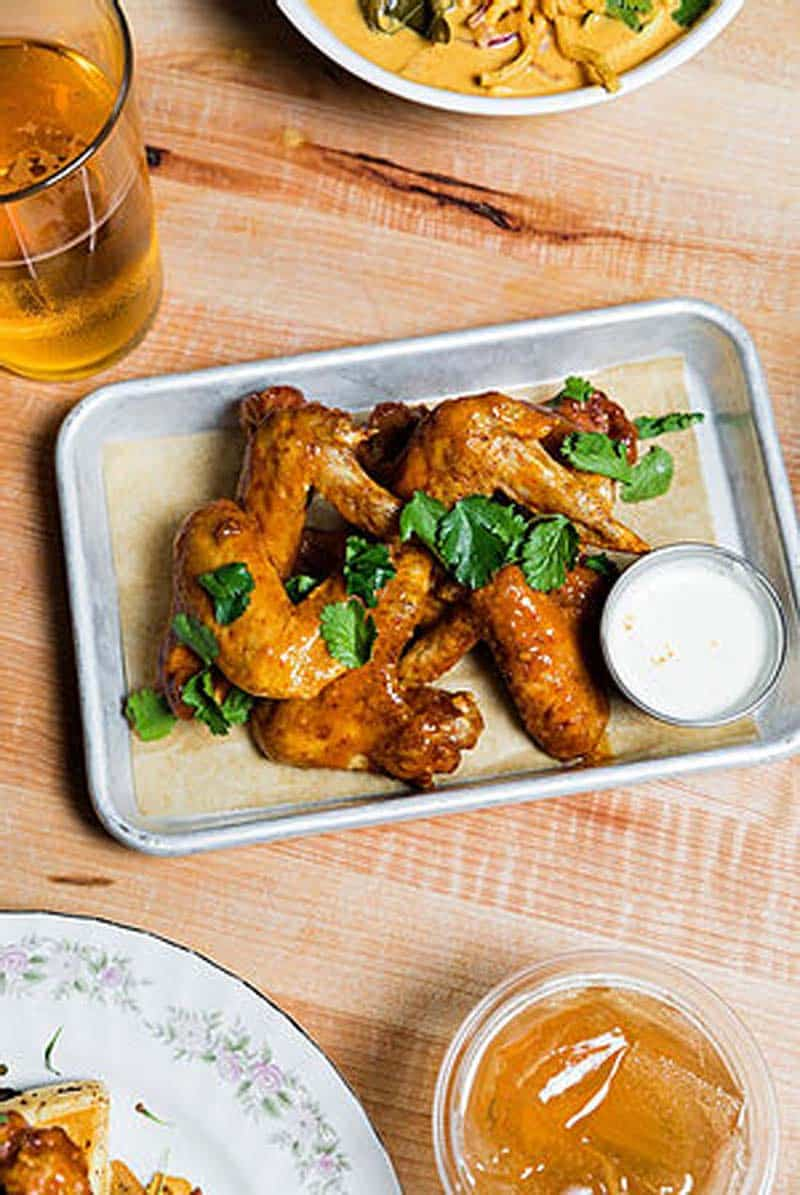 Chicken wings from Root Note Food in Charleston.