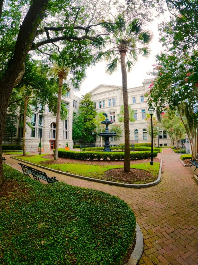 Courtyard in Charleston, SC.