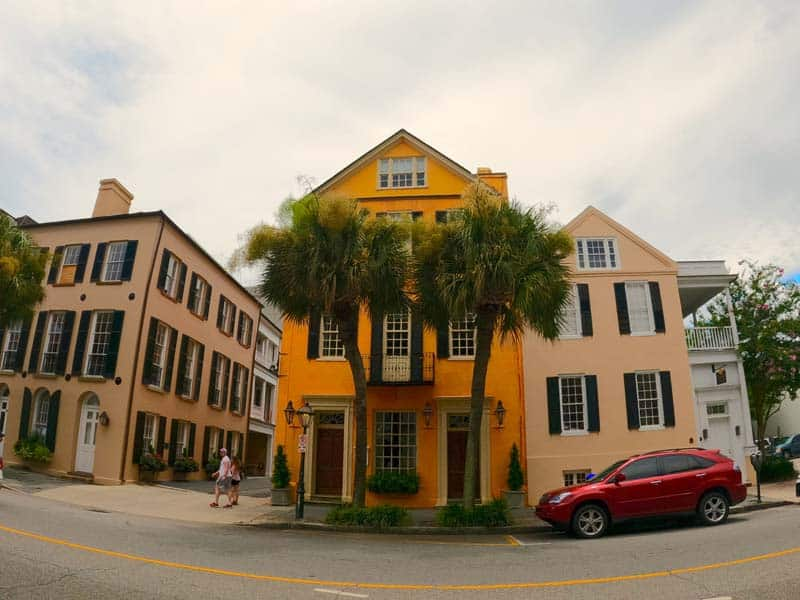 Southern home with bold color in Charleston, SC.
