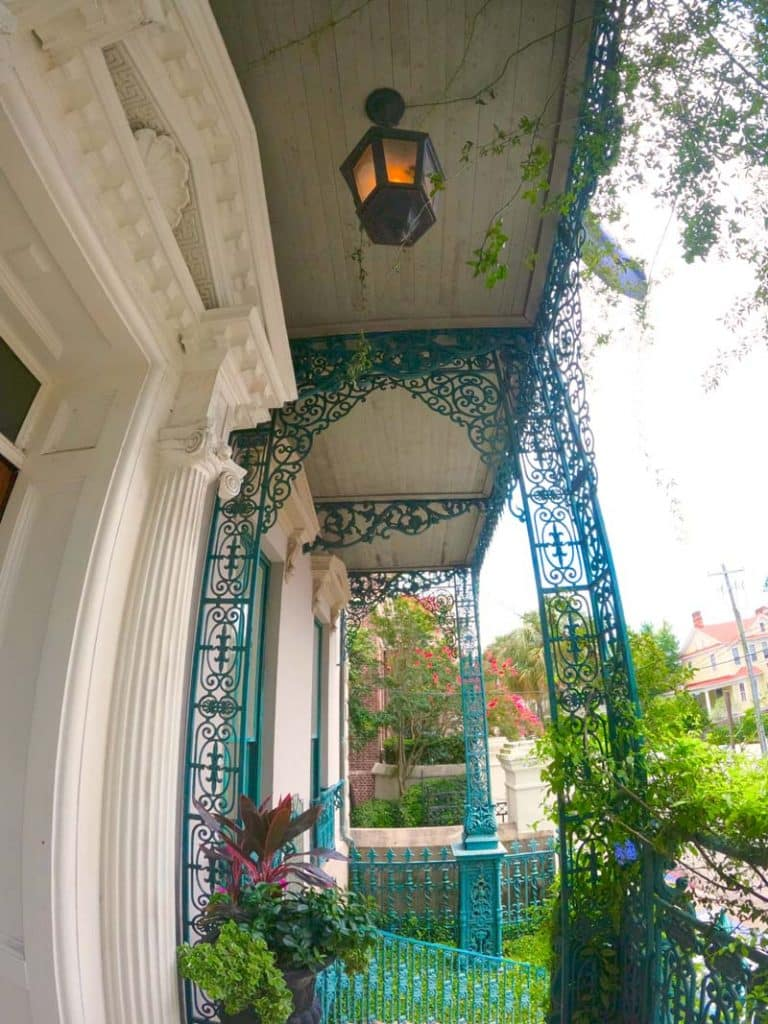 Rod iron architectural feature.