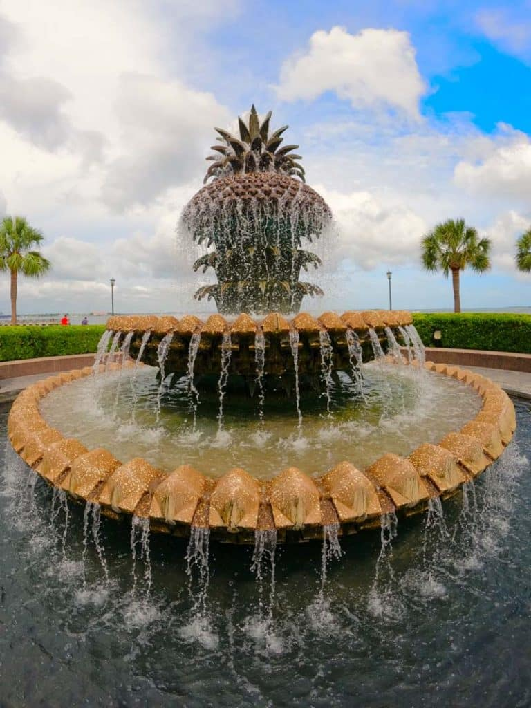 Pineapple fountain in Charleston, SC.